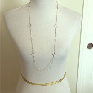 Silver Banana Republic necklace